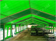 Green Warehouse Fabric Tent Structures Clear Span Marquee Canopy 10M x 51M