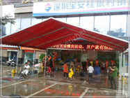 China Red UV Resistant Portable Fabric Structures Waterproof Marquee Hire Rain Canopy factory