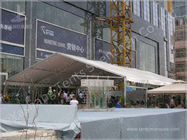 China 50 Seater Clear Span Fabric Structures Reusable Sunshade Shelter 6X15M factory