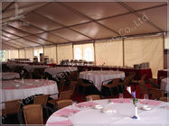 China Large Buffet Waterproof Party Tents For Hire 10X30 Temporary Aluminium Frame Marquee company