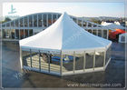 China Octagonal Outdoor canopy gazebo tent Transparent Glass Wall and Door 3m Side Length factory