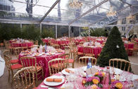 China Large Square Clear Top Tent with transparent roof for Party and Event factory