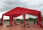 China UV Resistant Red Color PVC Fabric Tent Structure Hard Pressed Aluminum Frame factory