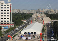 China 30X150M large exhibition tent , Square car show tent 850gsm PVC Fabric Cover company