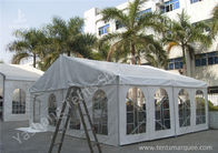 China Transparent Soft PVC Windows Fabric Tent Structures with 10m by 10m factory