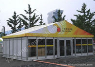 China UV Resistant custom Outdoor Event Tent Building Solid Glass and EPS Wall Designed factory