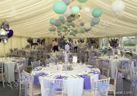 China Colorful Ball Decoration Luxury Wedding Tents , Huge Canopy Tent Anodized Aluminum Framed factory