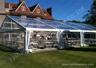 15M By 25m Clear Fabric Top Outdoor Party Tents With Aluminum Main Profile