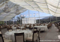 Clear Top / Wall PVC Fabric Cover Outdoor Luxury Wedding Tents With White Linings