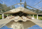 China Clear and White Top Fabric Cover Outdoor Aluminum Luxury Wedding Tents factory