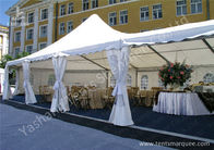 China High Peak Assembled Frame Luxury Wedding Tents Marquee With Noble Decorations factory