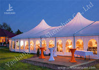 High Peak Lining Style Aluminum Frame Water Resistant Tent Structure For Wedding Receptions