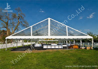 China Clear PVC Fabric Top Aluminum Alloy Outdoor Luxury Wedding Tents factory