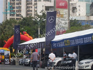 China Small Width PVC Fabric Outdoor Car Exhibition Tent Preventing from Ultraviolet company