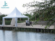 China White PVC Fabric Cover Aluminum Frame  High Peak Canopy against Strong Sun factory