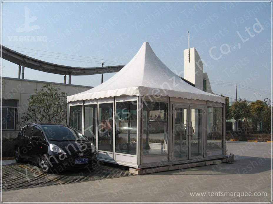 Waterproof Metal Frame 4X4 Gazebo Canopy Tents Watch House Double Wing Glass Door & Waterproof Metal Frame 4X4 Gazebo Canopy Tents Watch House Double ...