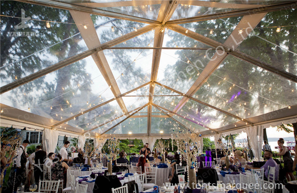 Transparent Roof PVC Fabric clear canopy tent for Luxury Wedding Party & Roof PVC Fabric clear canopy tent for Luxury Wedding Party