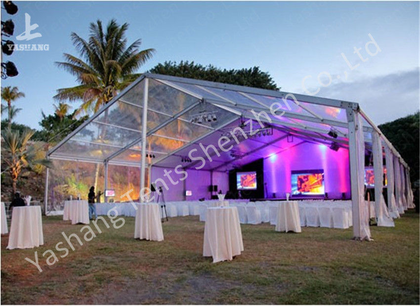 PVC Fabric Cover Clear Top Tent / Clear Canopy Tent With Beautiful Flowers & PVC Fabric Cover Clear Top Tent / Clear Canopy Tent With Beautiful ...
