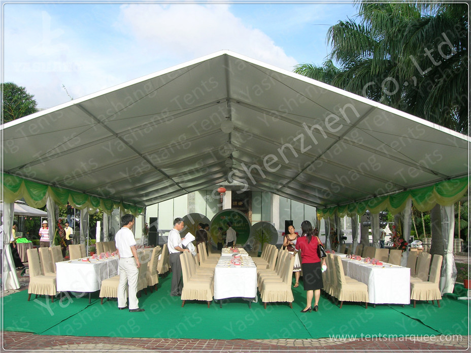 100 seater temporary outdoor garden party canopy tent open gable sunshade construction - Open Canopy 2015