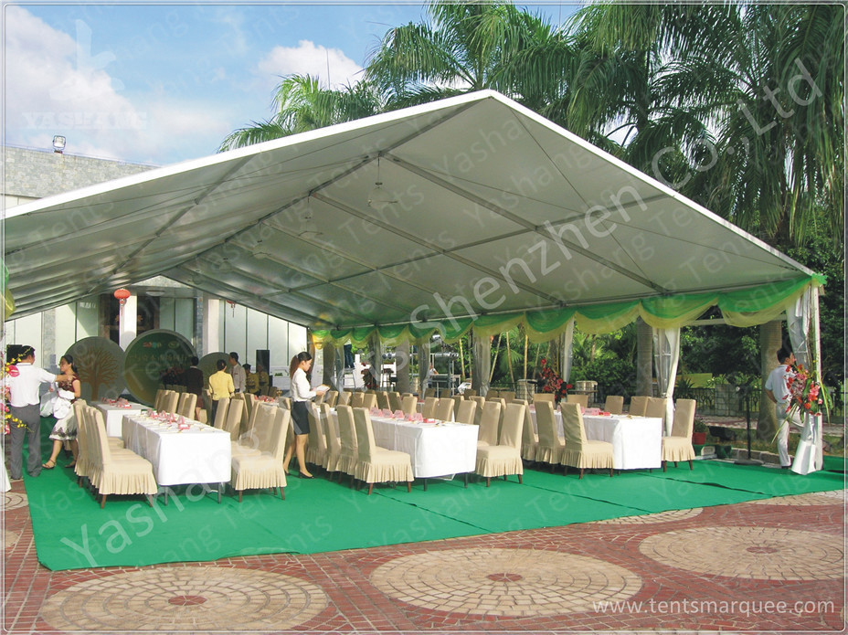 100 Seater Temporary Outdoor Garden Party Canopy Tent Open