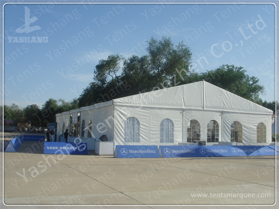 Aluminum Frame Show Event Marquee Tent Rental With Transparent PVC Windows / Glass Door