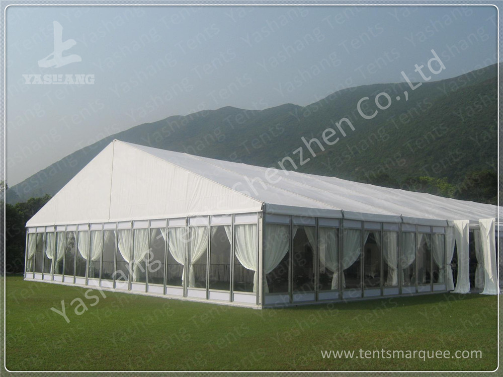 Luxury Fully Decorated 20X20 Party Tent With Sidewalls , Outdoor Party Marquee