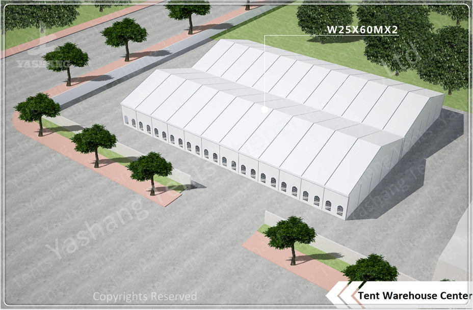 3000 Sqm Array Industrial / Commercial Tent Rentals Durable Aluminium A-Frame Marquee