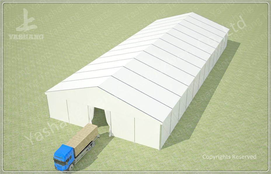25x60 M Wind Resistant Temporary Industrial Storage Buildings With Suspension Cables