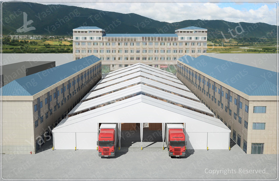 Waterproof Industrial Canopy Tent Fabric Shelter Systems With Transparent Skylight & Industrial Canopy Tent Fabric Shelter Systems With Transparent ...