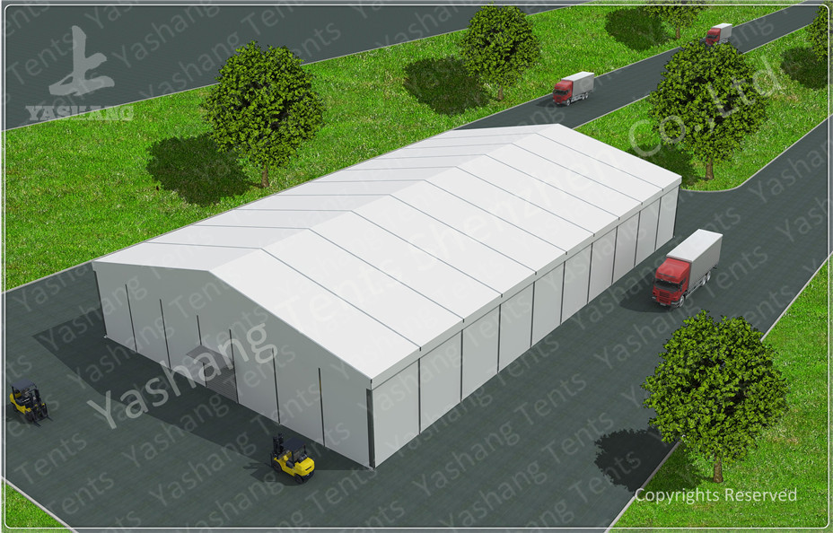 8M Height PVC Warehouse Storage Tent Anti-ultraviolet  A-Shaped Roof Top Style