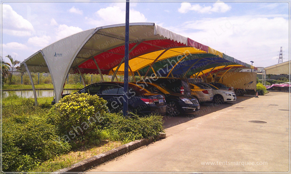 Outdoor Fabric Tent Structures Car Shed Parking Canopy
