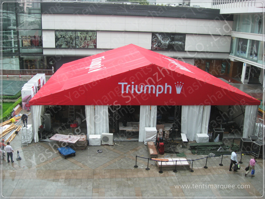 20X20M Red Fabric Cover Outside Event Tent For Exhibition  Outdoor Trade Show Tent Displays & Red Fabric Cover Outside Event Tent For Exhibition  Outdoor Trade ...