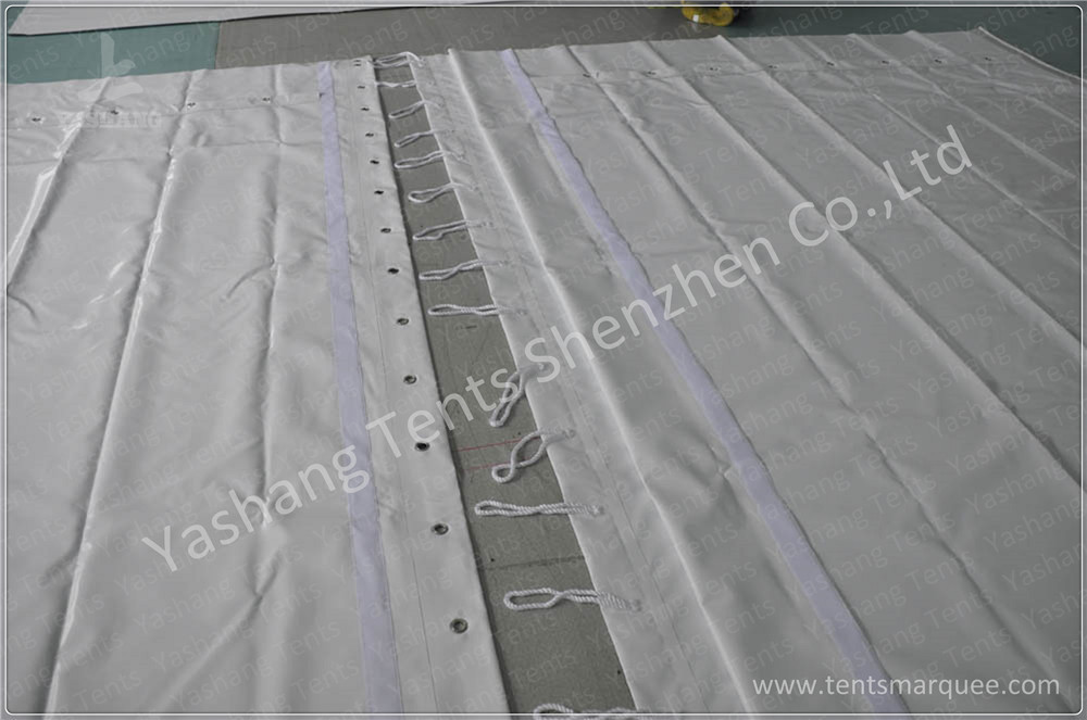 Custom Tent Accessories Wall Cover Opening Solution / Hanging Method Wall