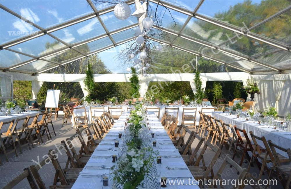 Wine Party Clear Top Tent Structure Aluminum Alloy Frame Clear