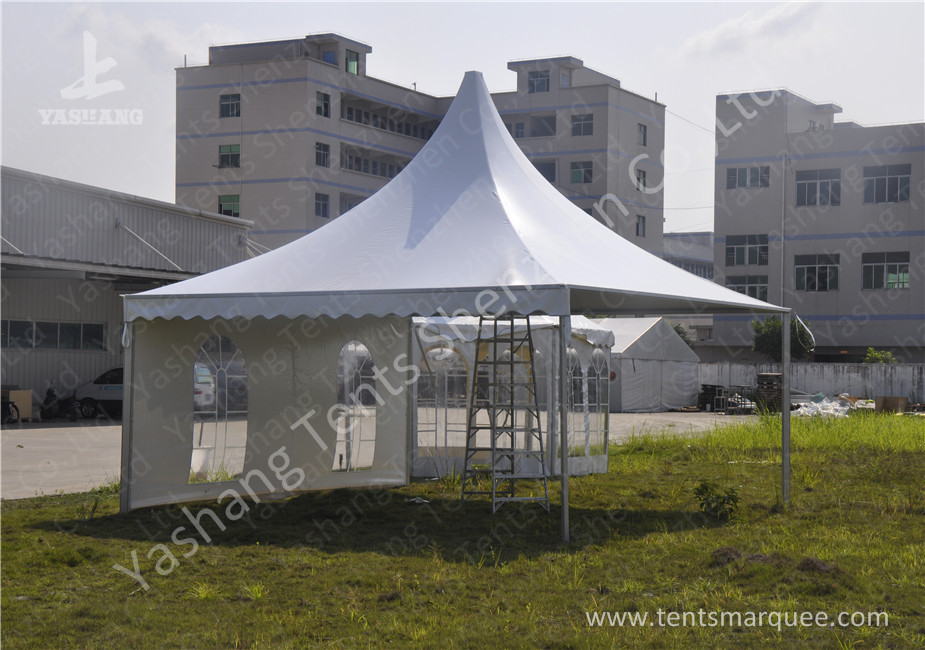 Extruded Aluminum Alloy Frame Outdoor High Peak Pole Tent Soft PVC ...