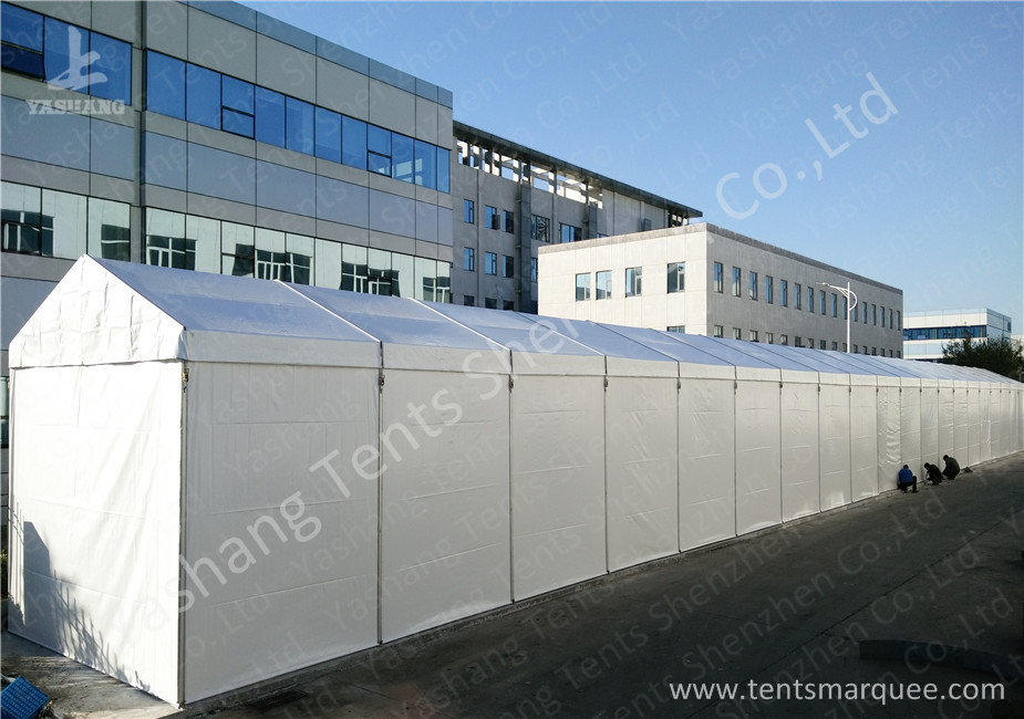 Outdoor Portable industrial canopy shelter UV Resistant Soft White Fabric