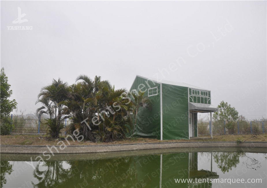 Green Cover UV Resistant PVC Fabric Tent Structure For Coffee Parties