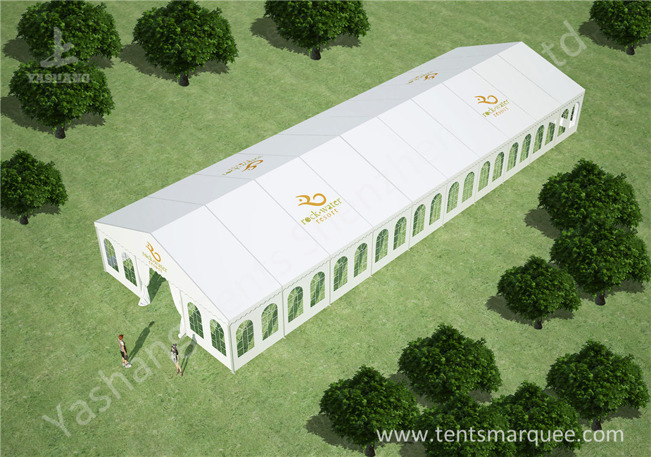 10m by 30m Outdoor Event Tent Marquee for Luxury Weddings Customized with Logos