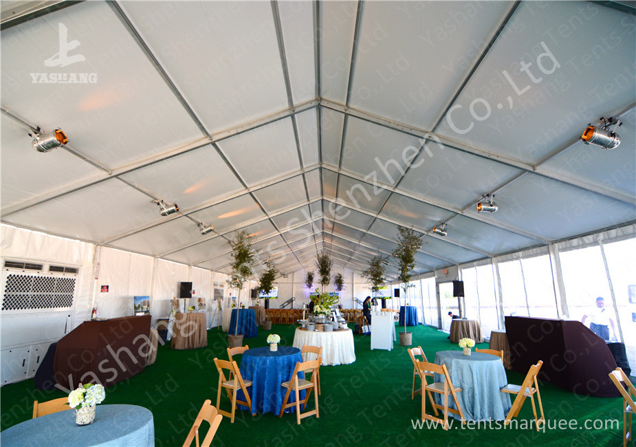 White Soft Water proof PVC Fabric large outdoor canopy tent , 100% utilization