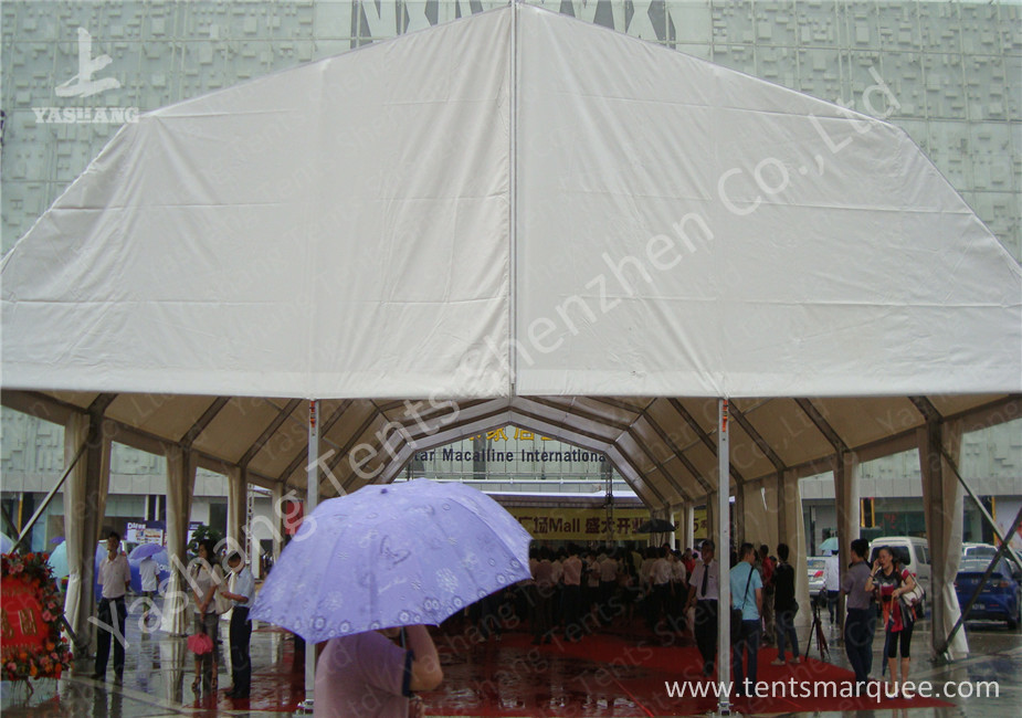 Double Pitch Roof Hard Extruded Aluminium Frame Tents , 15 x 40M ...