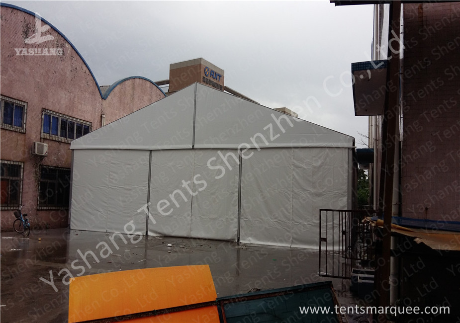 12M Wide Aluminum Framed Industrial Storage Tents white pvc fabric cover