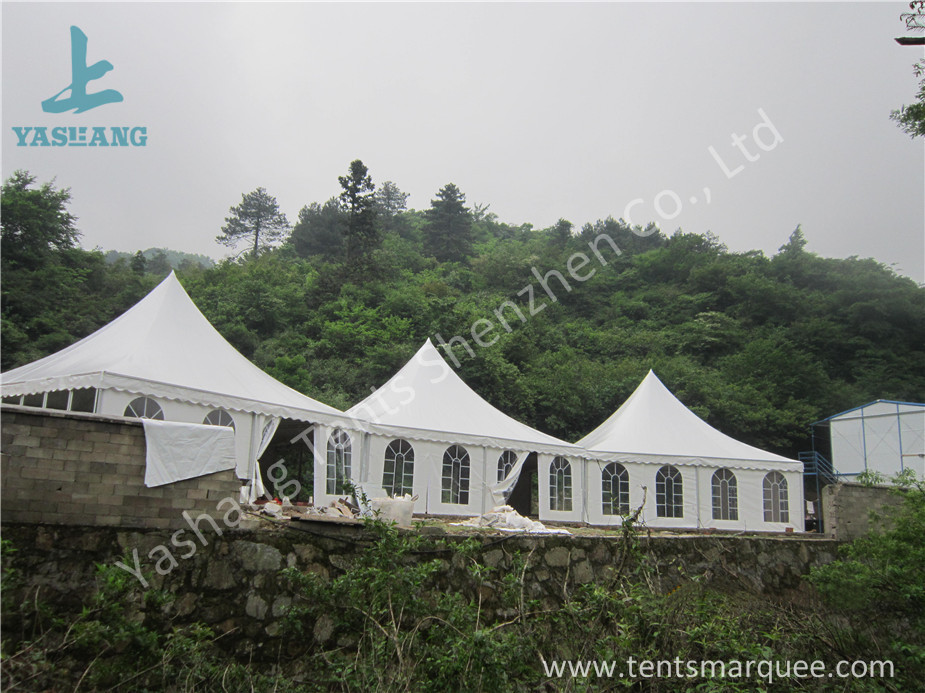 Aluminum Frame 8x8 Gazebo Canopy Tents , Outdoor High Peak Tents For Restaurant