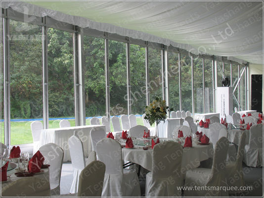 Outdoor Glass Wall Canopy Gazebo Party Tent 20 X 25M 300 Seater Clear Span Marquee Hire
