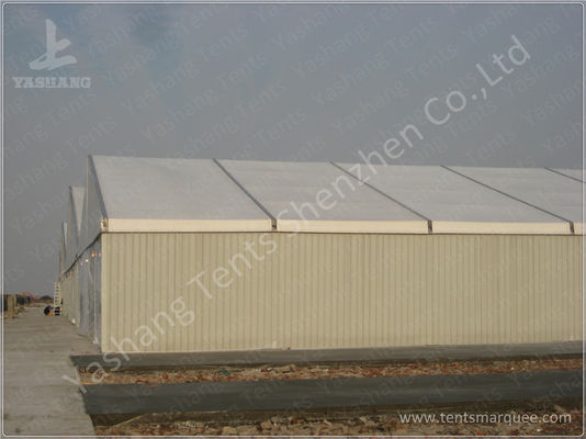 Side By Side Row 6000㎡ Large Industrial Tents High Performance ISO CE Certification