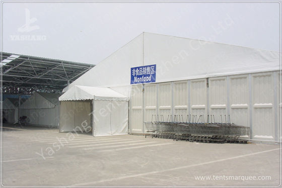 Retail Trade Big Clear Span Marquee Tent With A Frame Roof / Galvanized Steel Connector
