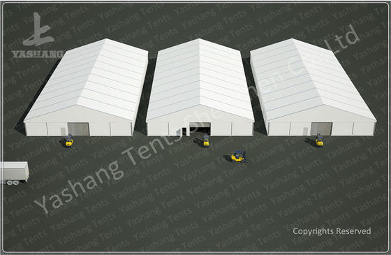 25x50 M Logistics Outdoor Warehouse Tents , Clear Span Fabric Buildings