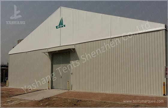 Durable Custom Big Industrial Storage Tents With Corrugated Sheet Wall