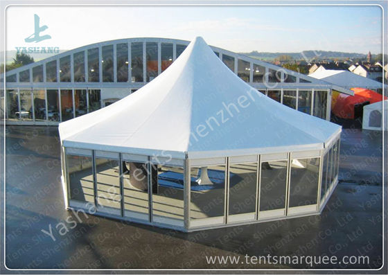 Octagonal Outdoor canopy gazebo tent Transparent Glass Wall and Door 3m Side Length