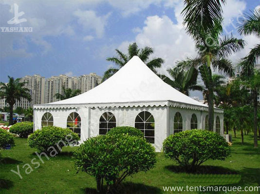 Recreation White PVC Fabric Cover High Peak Tents for Fun on Grassland