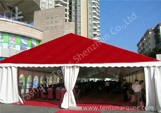 China Clear Span Large Outdoor Tent White PVC Fabric Door Transparent PVC Windows factory